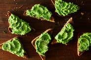 Minted Pea Puree on Toast