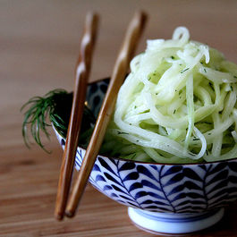 "Cucumber ""Spaghetti"" Salad"