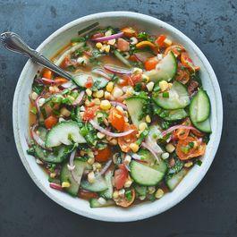 Tomato, Cucumber, Corn, and Herb Summer Salad