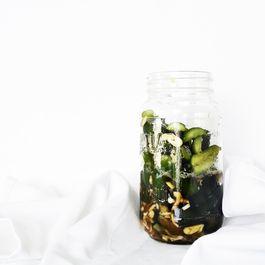 Smashed Cucumber Salad in a Jar