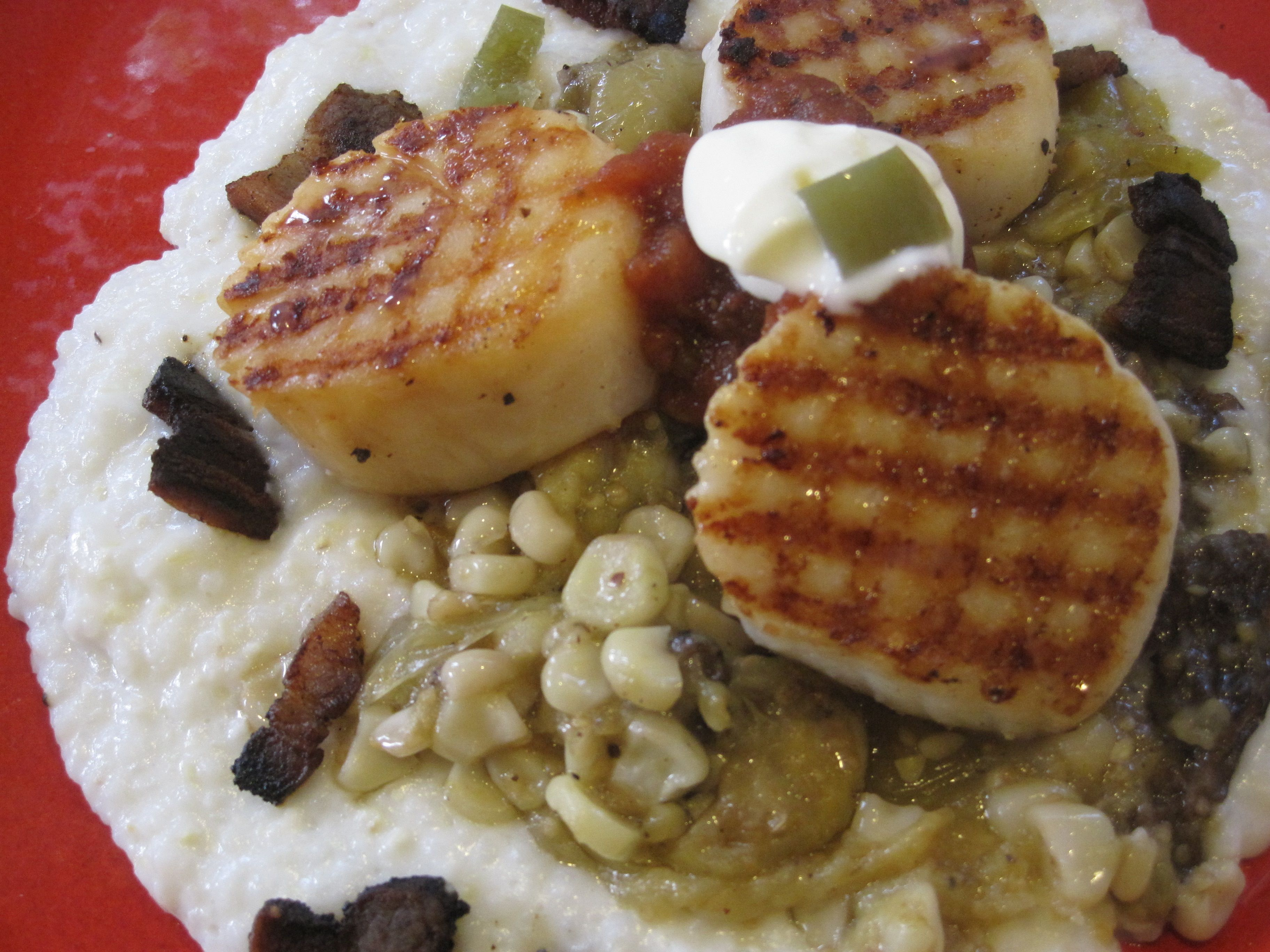 Grilled Scallops, Composed For A Dinner Party
