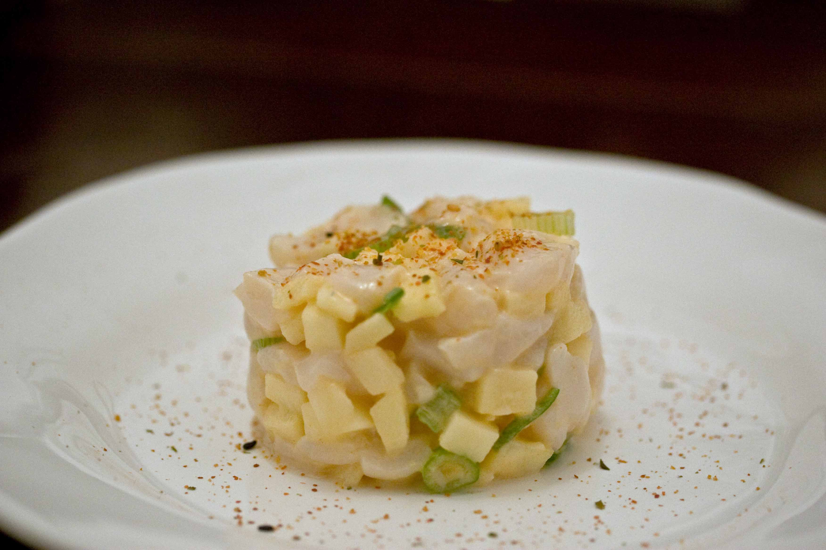 Scallop and Apple Tartare