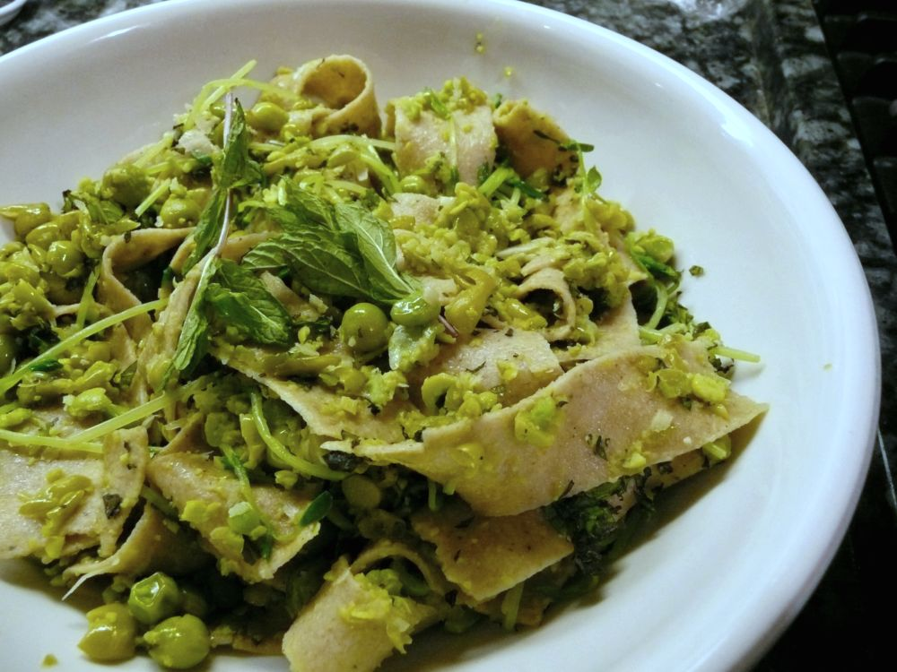 Spring Pea Pappardelle