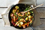 Spring Vegetable Jumble with Lemon-Tarragon Butter