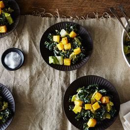 Vegan Caesar Salad with Polenta Croutons