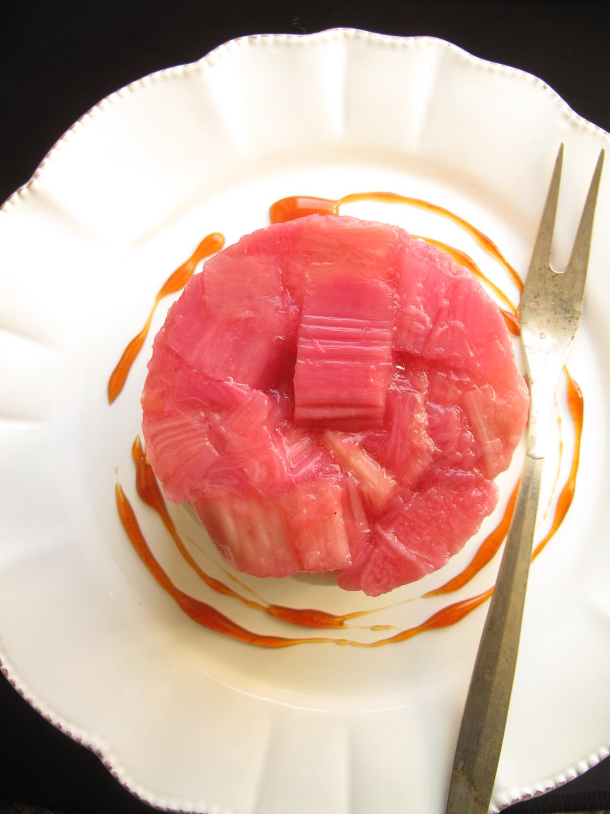 Roasted Rhubarb Tian
