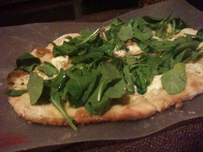 Jersey Pizza with Roasted Garlic and Arugula