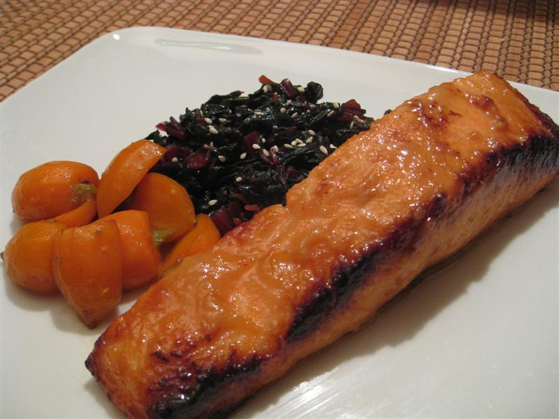 Miso and Agave Glazed Salmon
