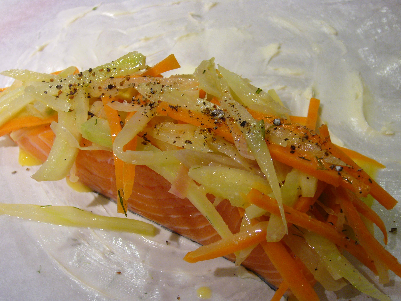 Salmon en Papillote