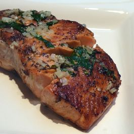 Grilled Salmon with Garlic-Basil Butter for Easy Entertaining