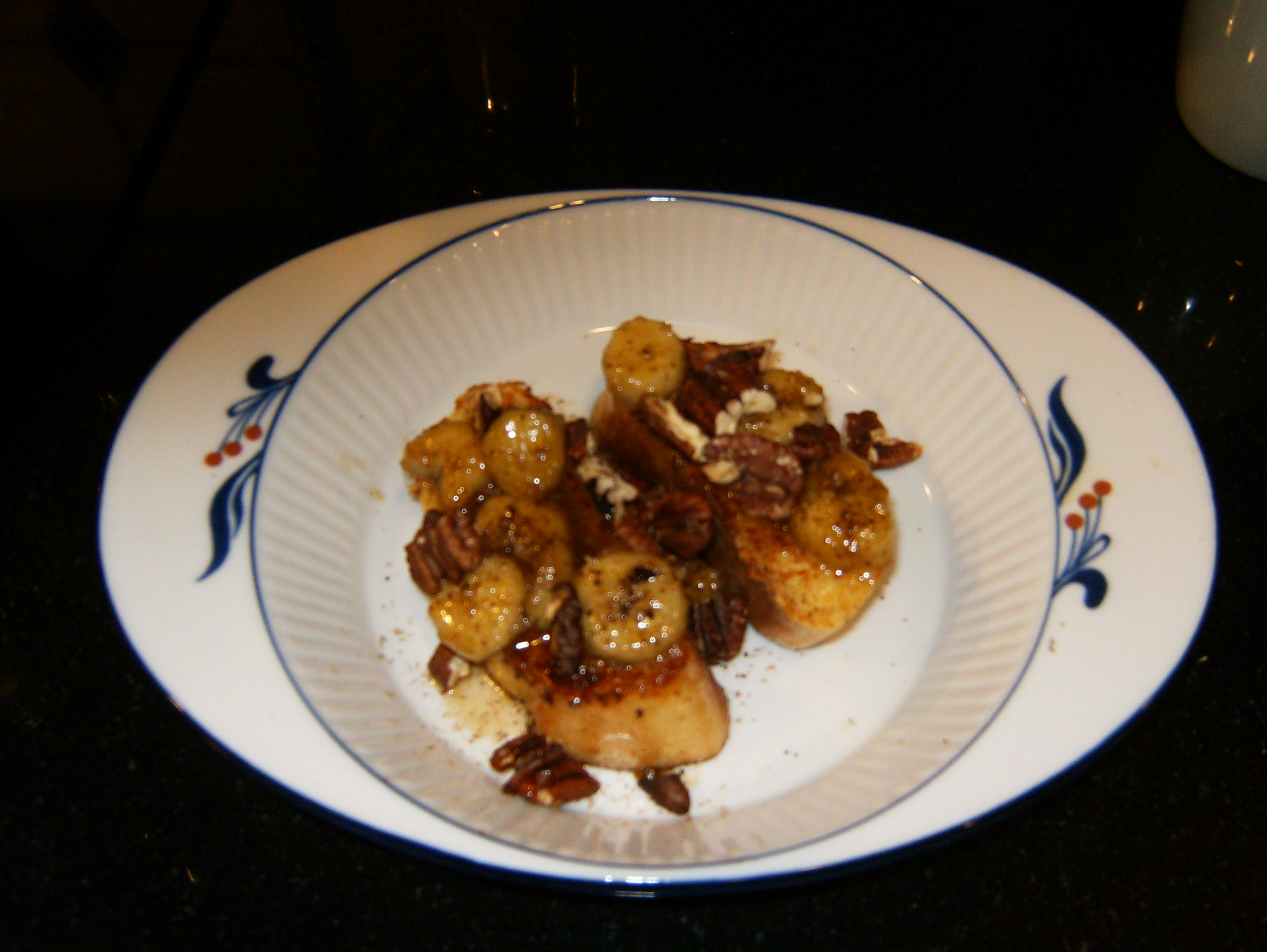 Pain Perdu with Bananas and Pecans