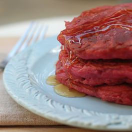 Beet and Quinoa Pancakes