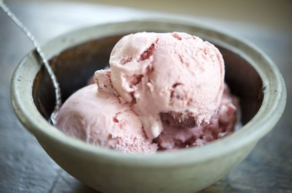 Strawberry-Fennel Ice Cream