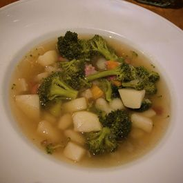 Potato and broccoli soup (that doesn't look like baby food)