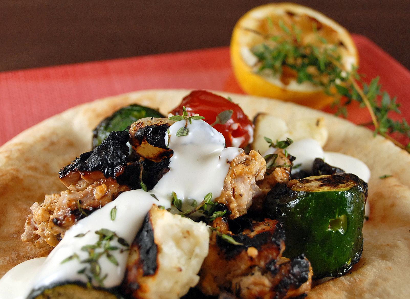 Shish Taouk with Toum (Chicken Kebabs with Garlic Sauce)