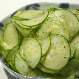 Mojito Cucumber Salad