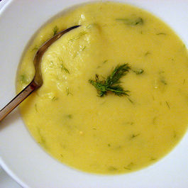Potato-Leek Soup with Cheddar and Dill