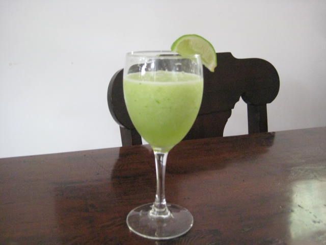 Lime-cucumber liquado