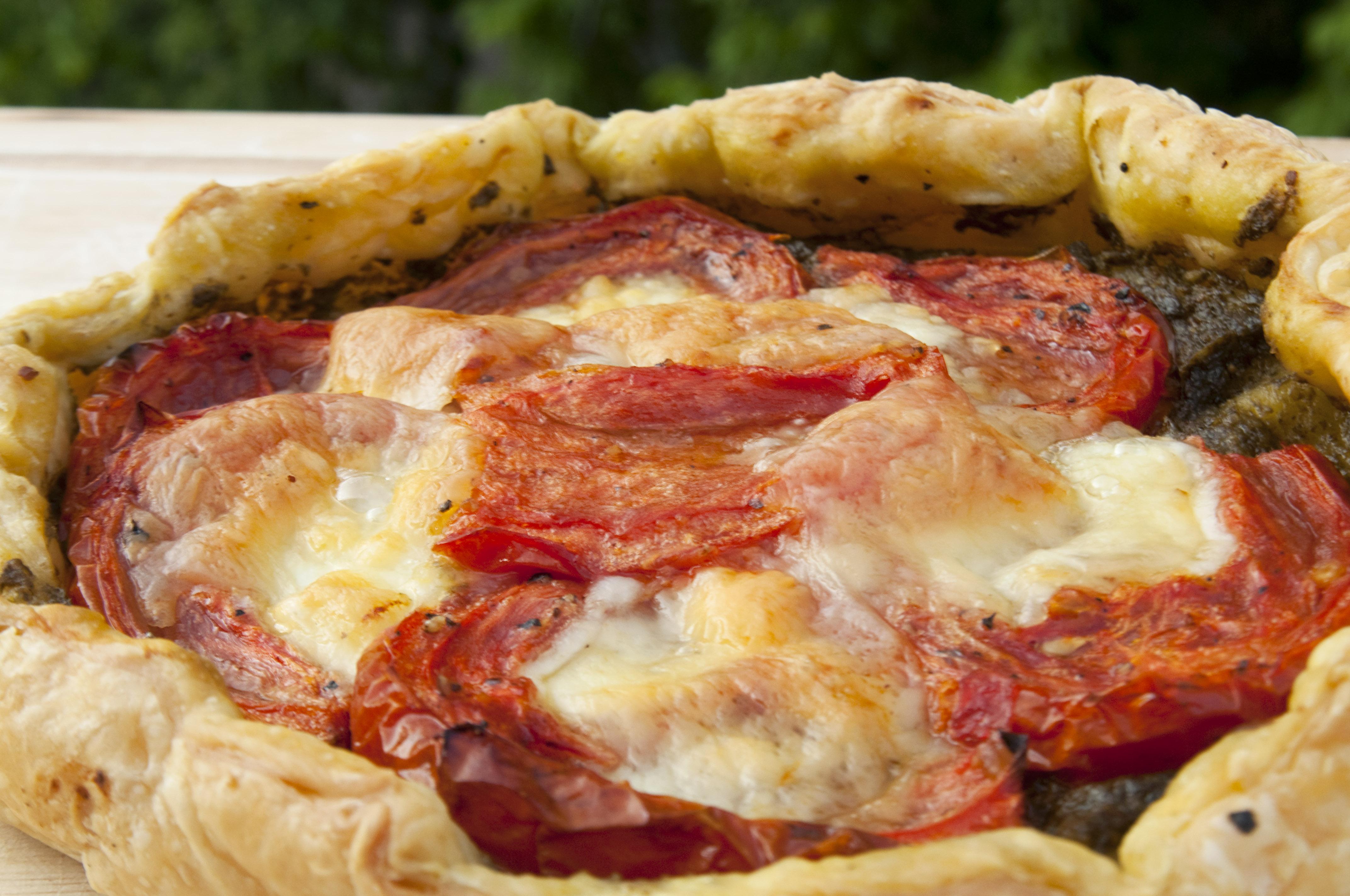 Slow Roasted Tomato and Mozzarella Galettes