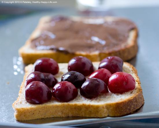 Smashed Chocolate Cherry Panini