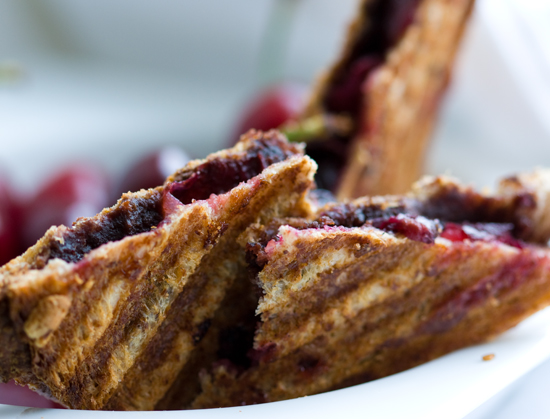 Smashed Chocolate Cherry Panini