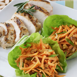 Sweet Potato and Ginger Slaw in Lettuce Cups