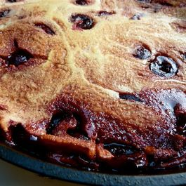 Dutch Baby with Caramelized Cherries