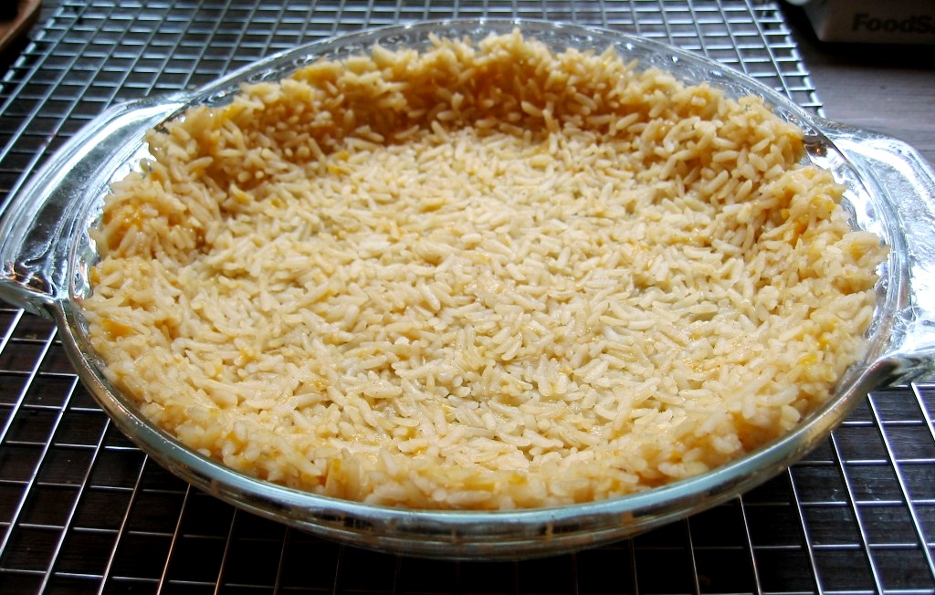 Cheesy Brown Rice Pie Crust