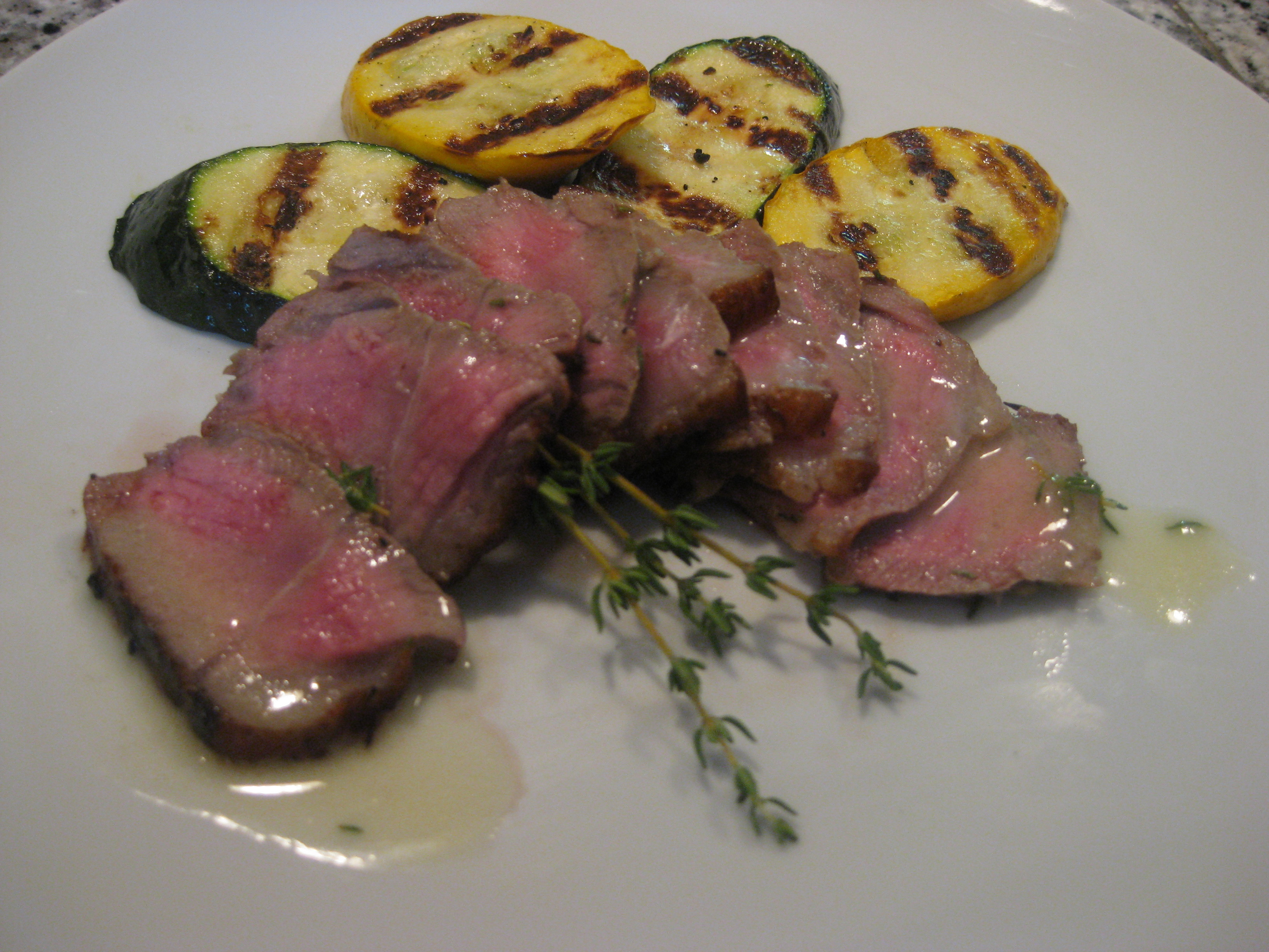 Lemon steaks with thyme butter