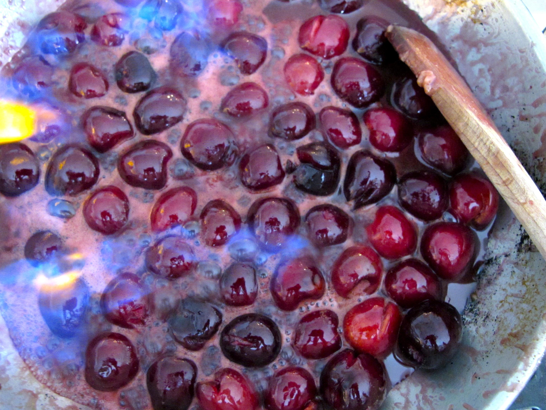 Fresh Cherries Jubilee