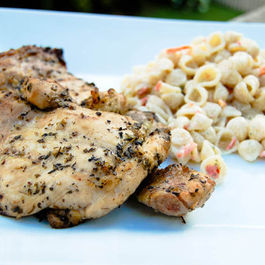 garlic herb marinated chicken thighs