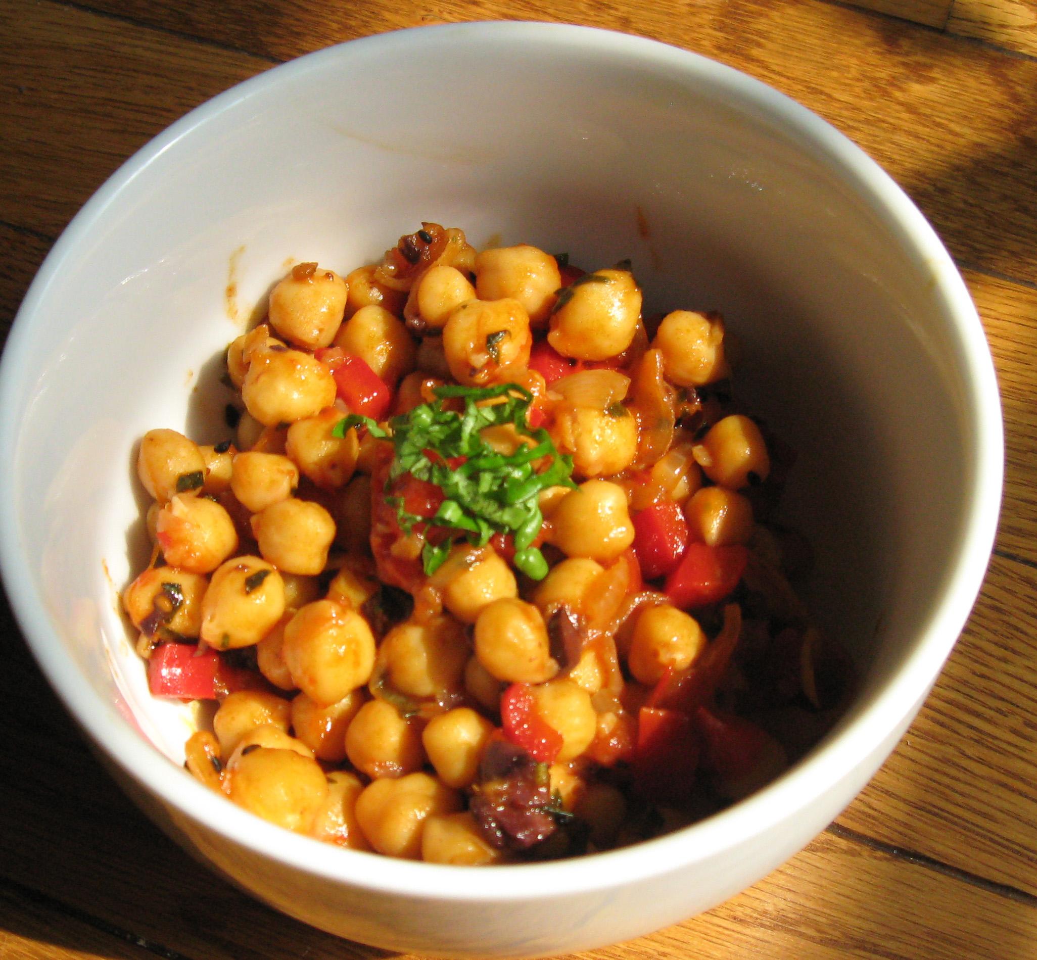 Magical Pomegranate Molasses Chickpeas