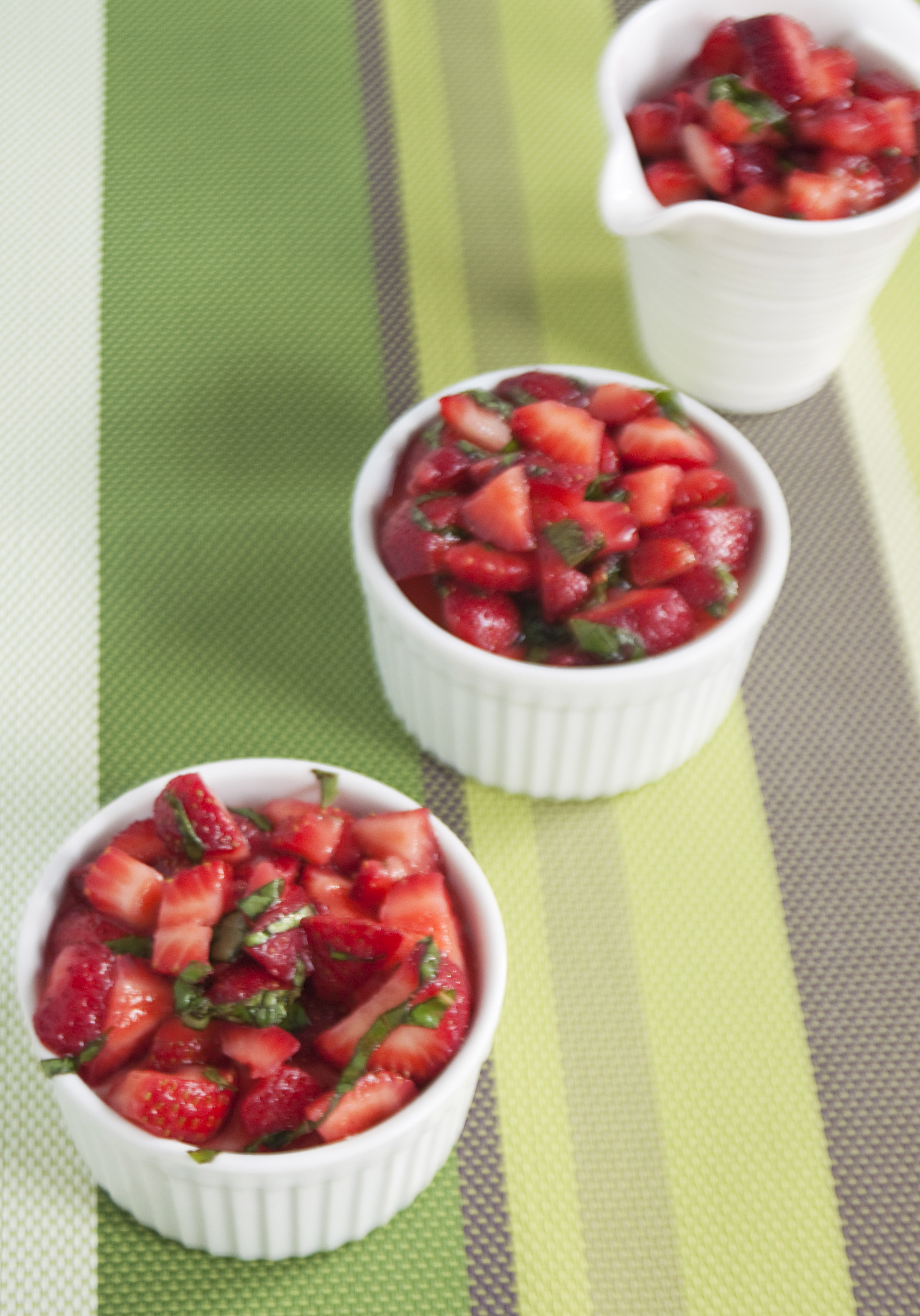 Lemon Basil Panna Cotta with Strawberries