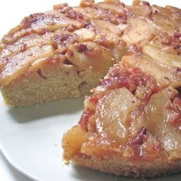 Apple & Candied Bacon Upside Down Cake