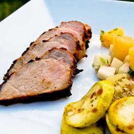 Caribbean Jerk Pork Tenderloin w/ Pineapple Jicama Salsa