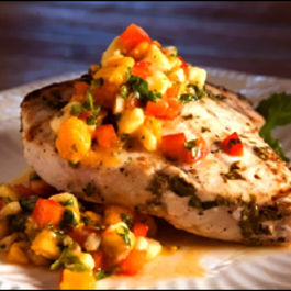 Swordfish-with-mango-and-pepper-salsa