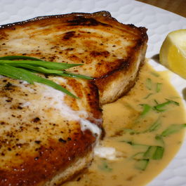 Pan-Roasted Swordfish with Tarragon-Mustard Sauce