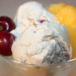 Peach and Cherry Ice Cream