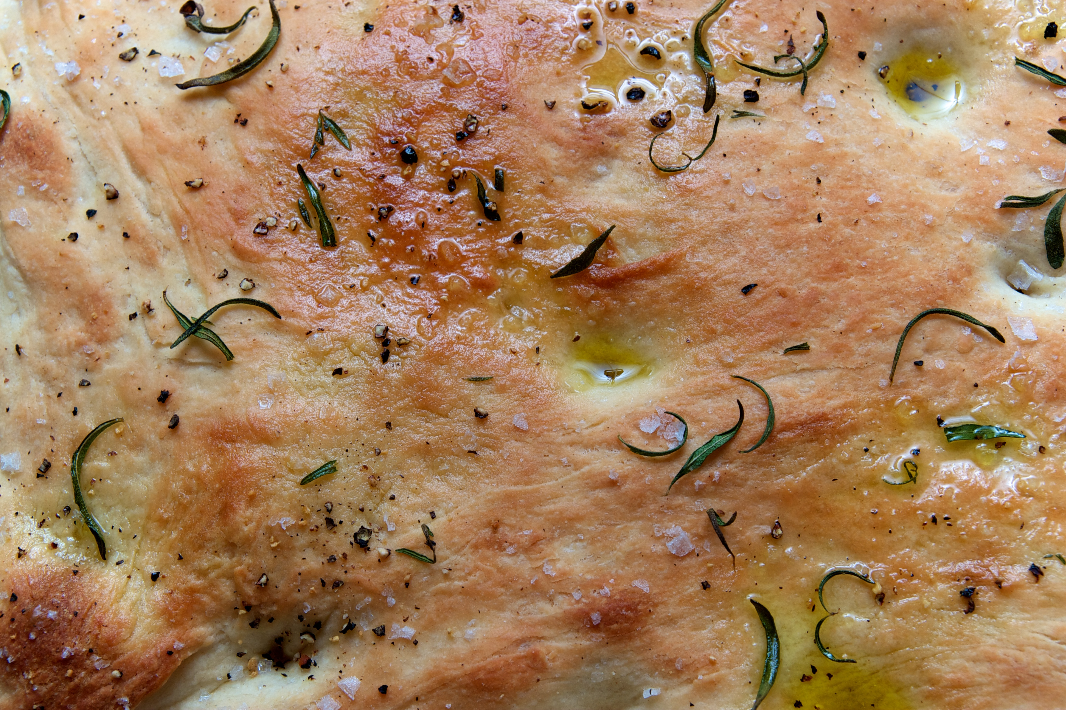 Homemade Focaccia with Rosemary & Sea Salt
