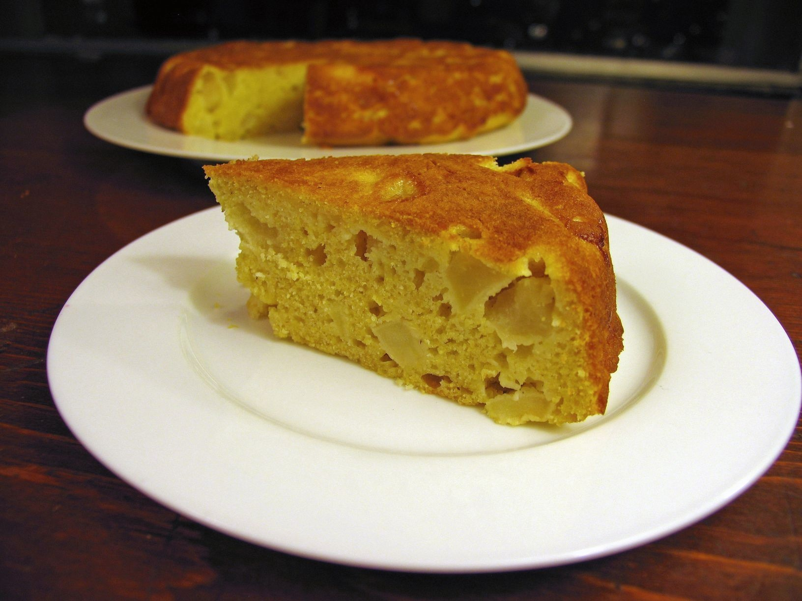 Apple Cornbread Cake