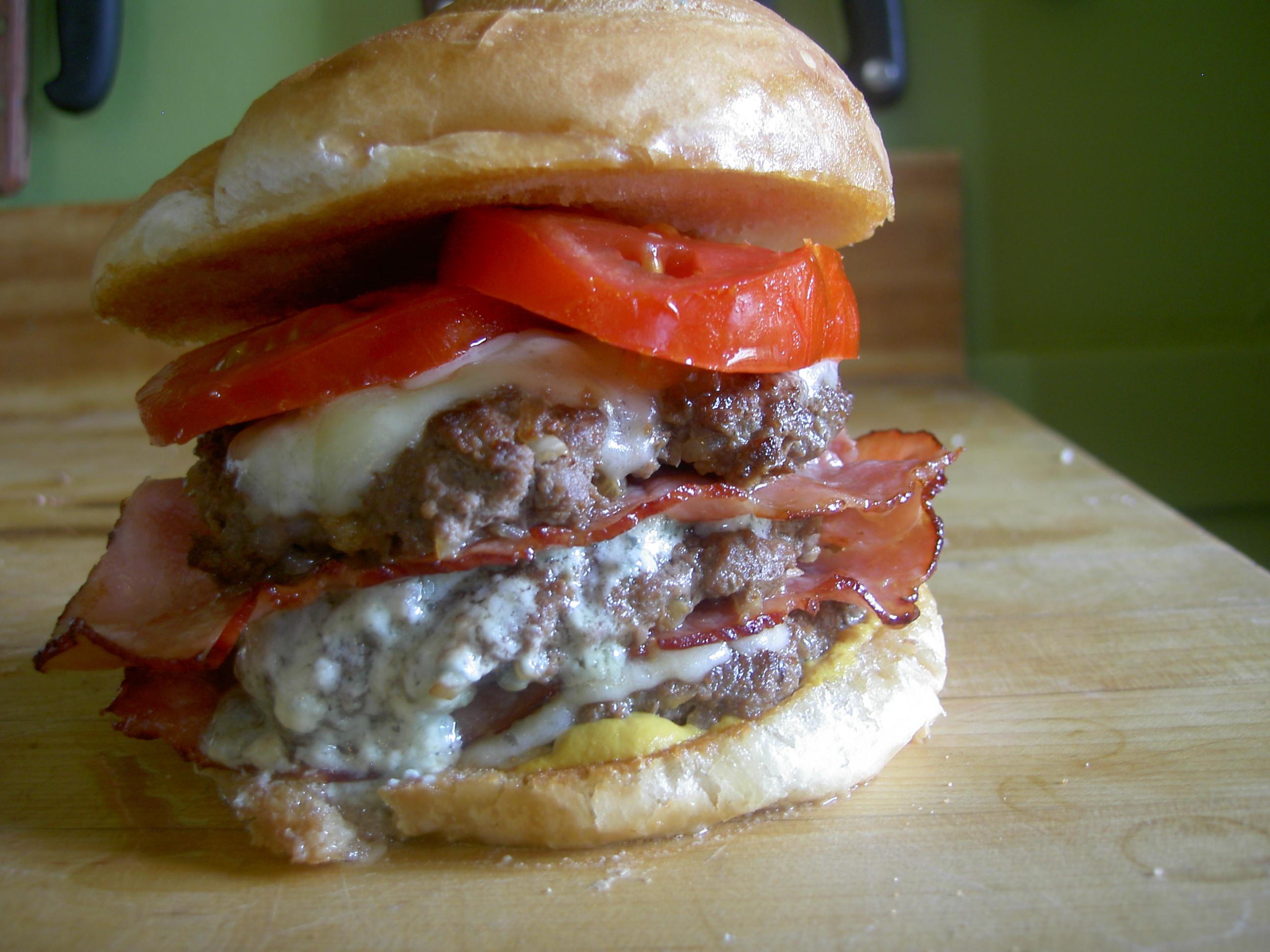 Cheddar and Blue HAMburger