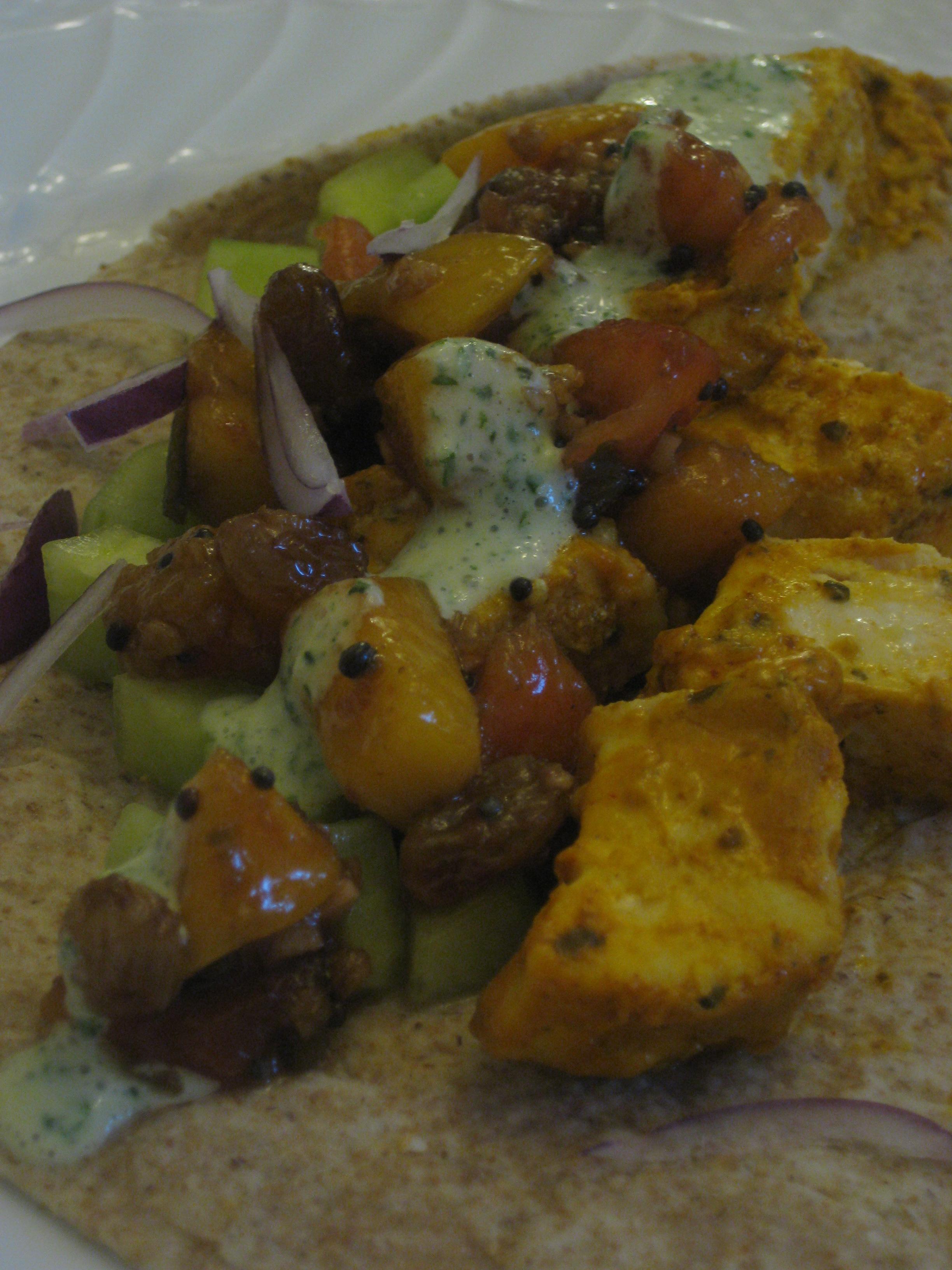 Tandoori Style Swordfish Tacos