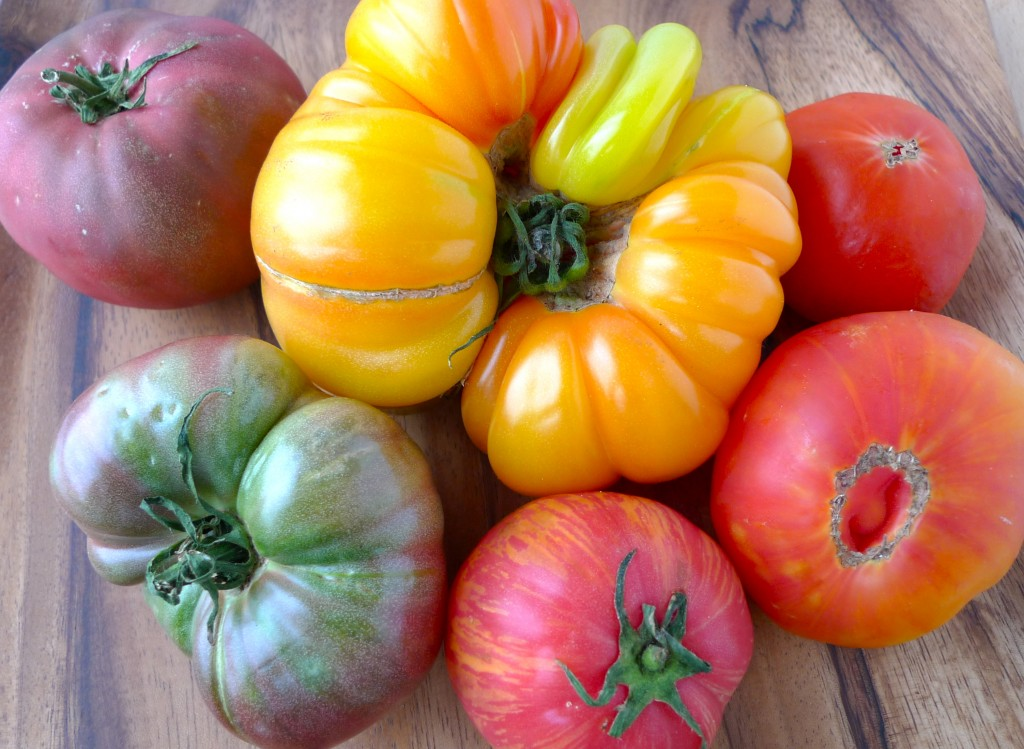 Heirloom Tomato and Summer Peach Salad