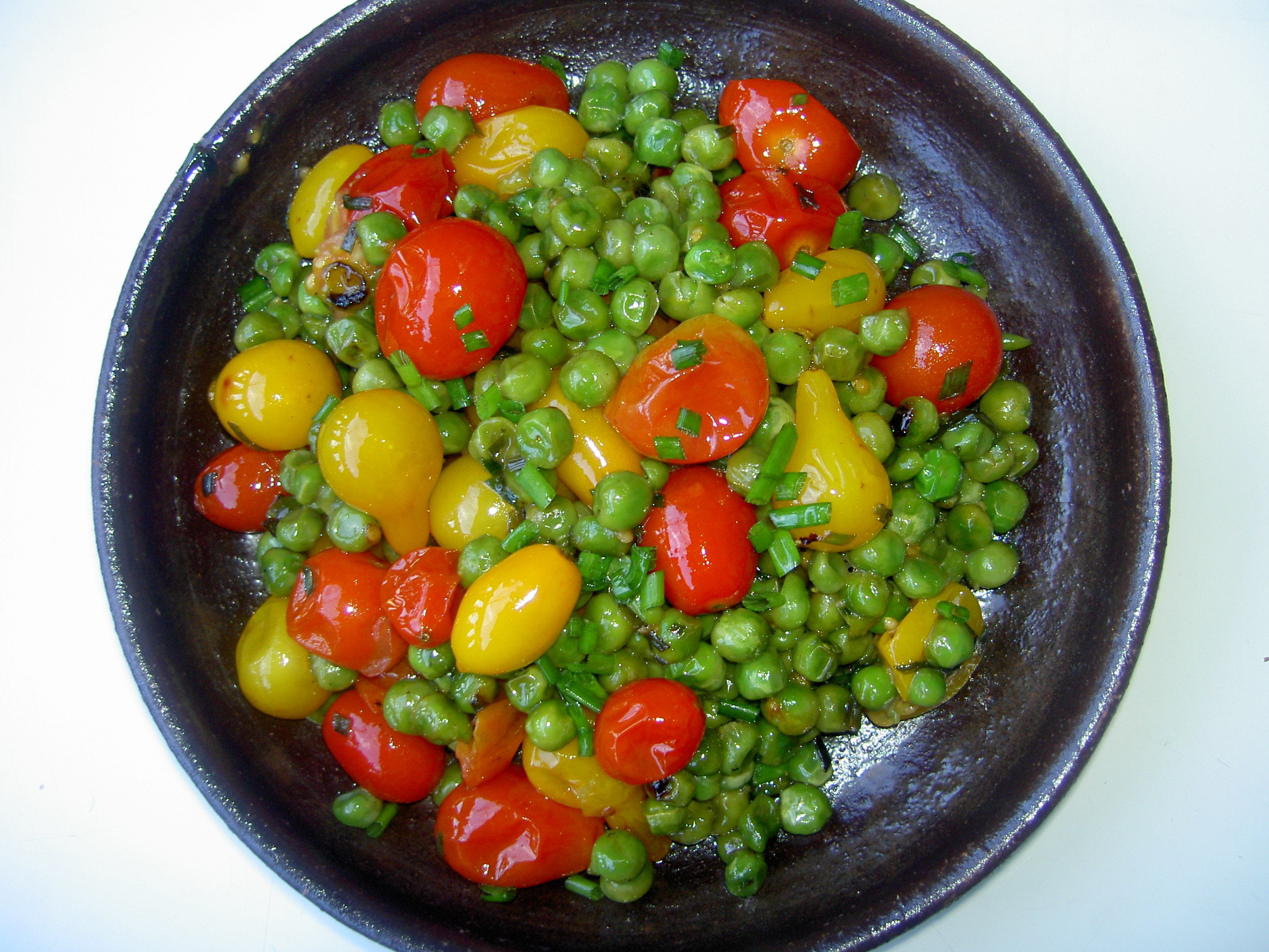 Fresh Heirloom Cherry Tomatoes and Peas