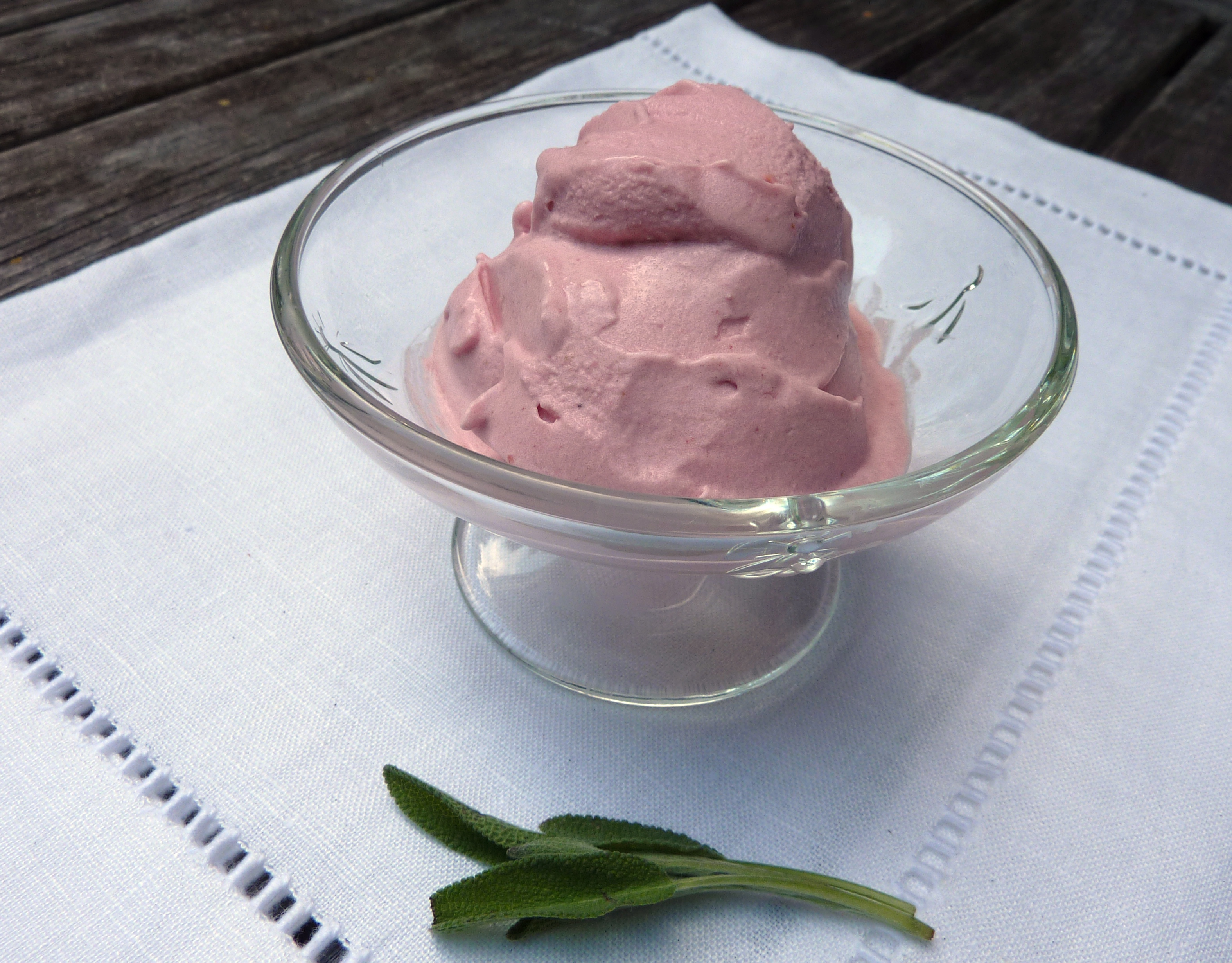 Sage Infused Plum-Blackberry-Honey Gelato