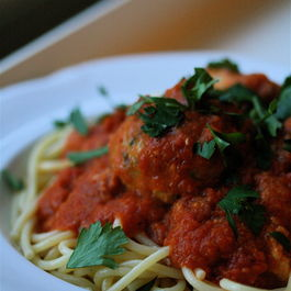 "Fish ""Meatballs"" in Spicy Red Pepper Sauce"