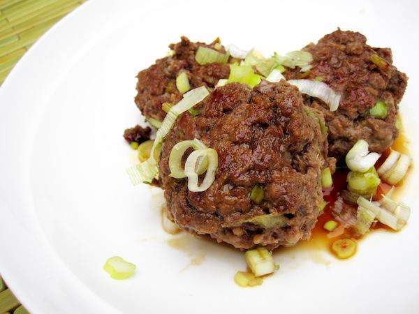 Ginger Meatballs with Teriyaki Glaze