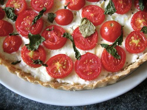 Cherry Tomato & Homemade Chèvre Tart