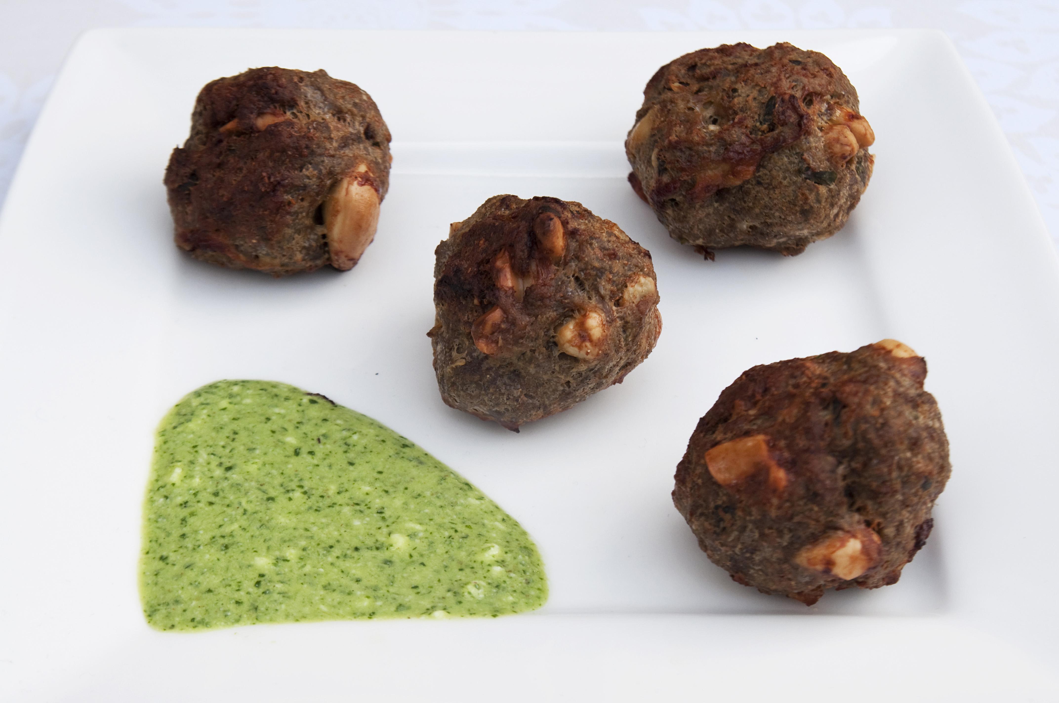 Lamb Kebabs with Mint Chutney