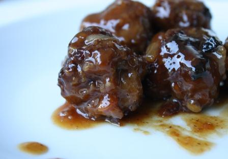 Spicy Sweet Meatballs